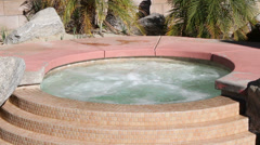 Hot Tub (with overflow steps) Stock Footage