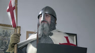 Stock Video Footage of Upper shot of a knight in full gear