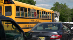 Getting to school on the bus (1 of 2) - stock footage