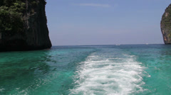 Arriving at the beach in Phi Phi island Stock Footage
