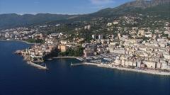Aerial corsica Bastia Stock Footage