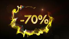 -70% Discount Text Concept, Fast Stock Footage
