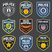 Police patches Stock Illustration