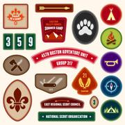 Scouting badges Stock Illustration