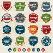 Vintage badges Stock Illustration