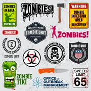 Zombie signs - stock illustration