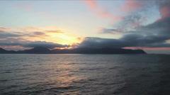 Sunset Cruise Time Lapse (ocean sunset timelapse) Stock Footage