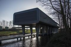 visitors centre of the woudagemaal - stock photo