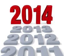 2014 arrives Stock Illustration
