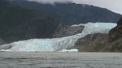 Mendenhall Glacier in Juneau, Alaska (showing climate change) Stock Footage