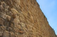 Stock Photo of part of the wall in Jerusalem and sky