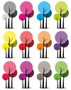 Stock Illustration of Colorful trees