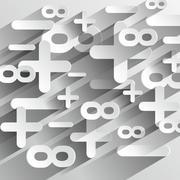Creative Abstract Math Calcul Symbols Stock Illustration