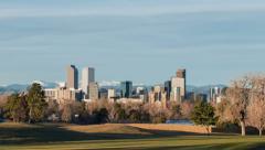Full Denver Sunrise Stock Footage