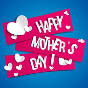 Creative Happy Mother's Day Card - stock illustration