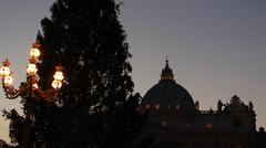 Stock Photo of St Peters dome and Christmas tree
