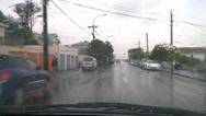 Stock Video Footage of Driving POV rain suburban street