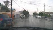 Stock Video Footage of Driving POV rain suburban street