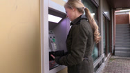 Stock Video Footage of Forgotten PIN at ATM