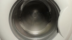 Washing machine spinning Stock Footage