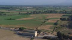 Aerial corsica biguglia chapel Stock Footage