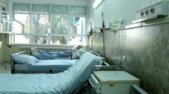 Old patient lying in hospital Stock Footage