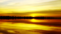 Lake sunrise Stock Footage