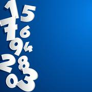 Creative abstract numbers Stock Illustration