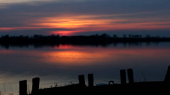 Beautiful lake sunrise Stock Footage