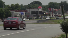 Highway four lane business Stock Footage