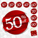 Stock Illustration of Creative Hard Discount Sale Badges