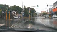Stock Video Footage of Driving POV rainy city streets
