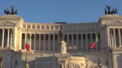 Altare della Patria Il Vittoriano National Monument Victor Emmanuel Rome day Stock Footage