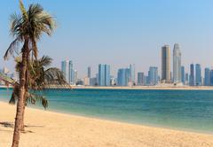 General view of jumeirah beach park in dubai Stock Photos