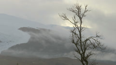 Snow Capped Mountains Highlands Scotland 1 Stock Footage
