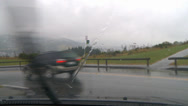 Stock Video Footage of Driving POV rain, city outskirt