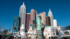 New York-New York Hotel & Casino (2) - Las Vegas Nevada, USA Stock Footage