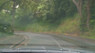 Stock Video Footage of Driving POV rain, narrow road