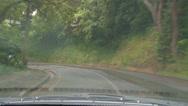 Stock Video Footage of Driving POV rain, narrow road
