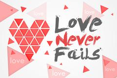 Love Never Fails - White Background Stock Illustration