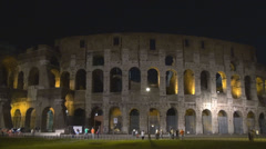 Timelapse time-lapse Great Colosseum forum historic Rome illuminated building  Stock Footage