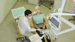 19of19 Dentist visiting patient in dental studio Stock Footage
