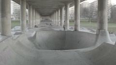 Skateboard BMX Stunt Park Stock Footage