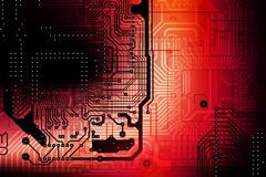 circuit board abstract backdrop - stock photo