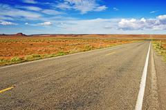 Straight arizona highway Stock Photos