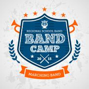 Band Camp badge - stock illustration