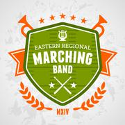 Marching band emblem - stock illustration