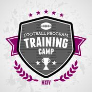 Training camp emblem - stock illustration