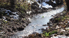 Running water near Kuzuluk Village at Sakarya Stock Footage