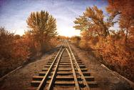 Stock Photo of grunge rr track